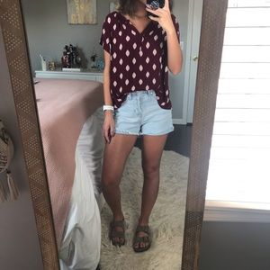 Papermoon Burgundy Top